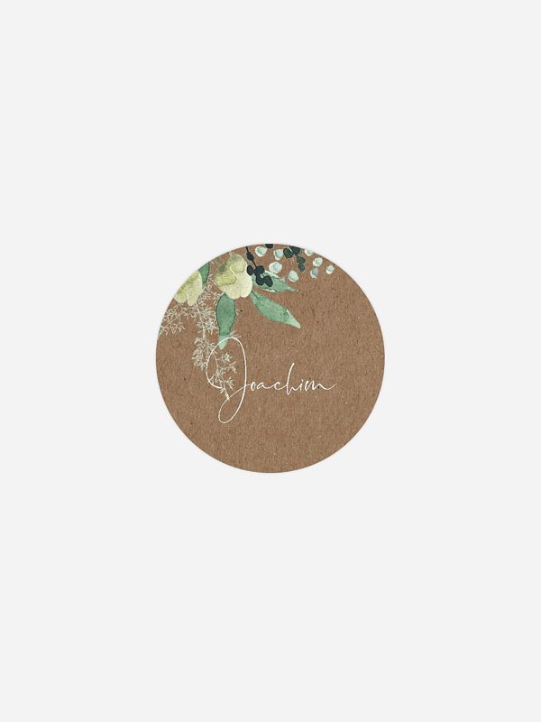 Geschenkaufkleber personalisiert Rustic Green Magic