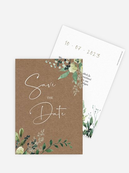 "Save-the-Date Karte ""Rustic Green Magic"""