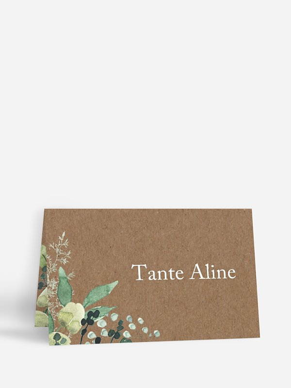 Tischkarte Hochzeit Rustic Green Magic