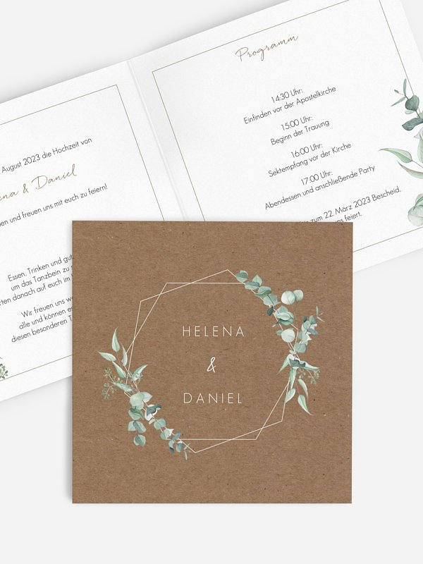 Hochzeitseinladung Rustic Soft Greenery