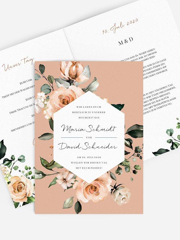 Hochzeitseinladung Soft Autumn Florals