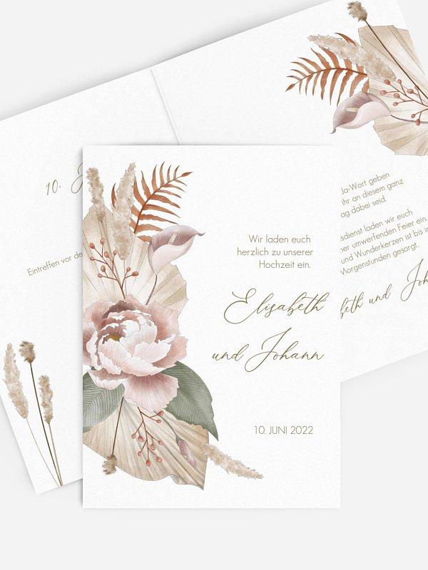 Hochzeitseinladung Flower Dream