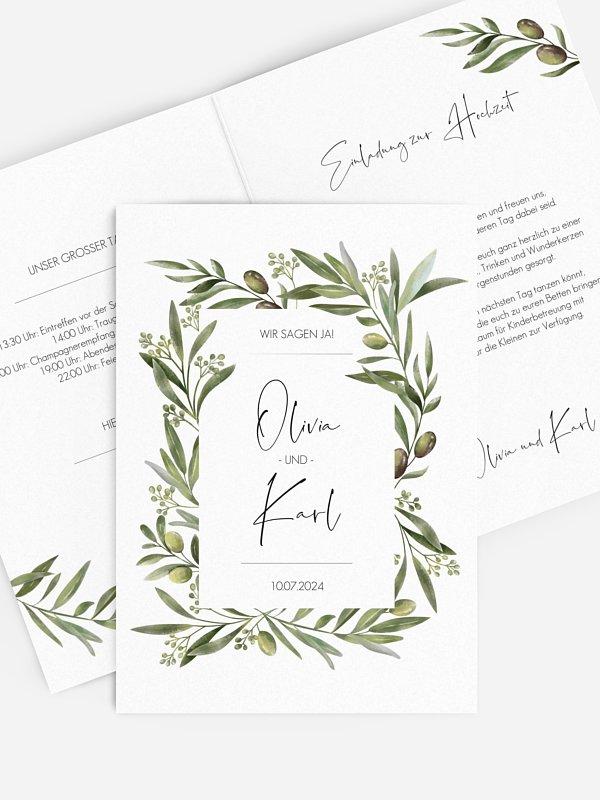 Hochzeitseinladung Sweet Olive