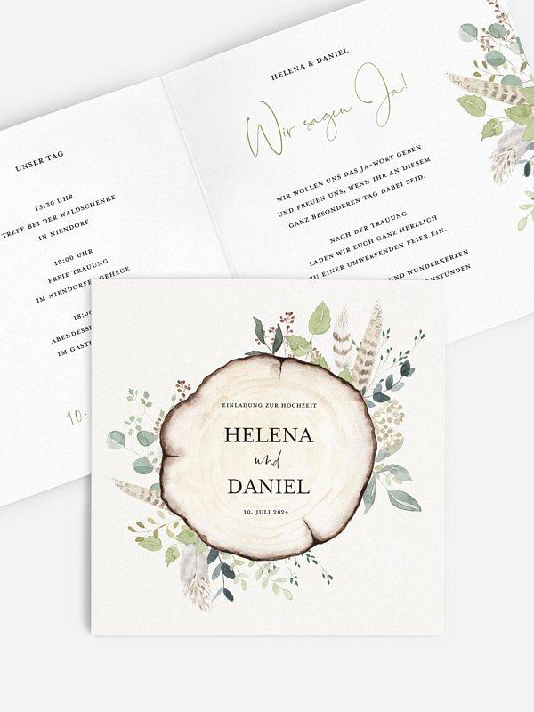 Hochzeitseinladung Waldliebe