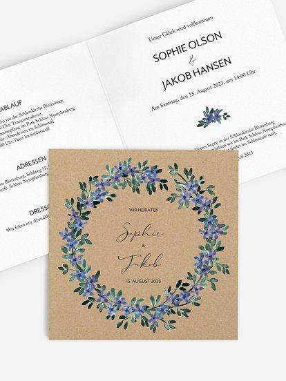 """Hochzeitseinladung """"Something Blue"""""""