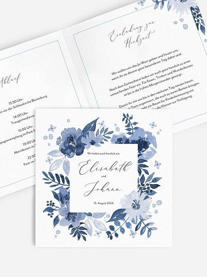 """Hochzeitseinladung """"Blue Garden"""""""