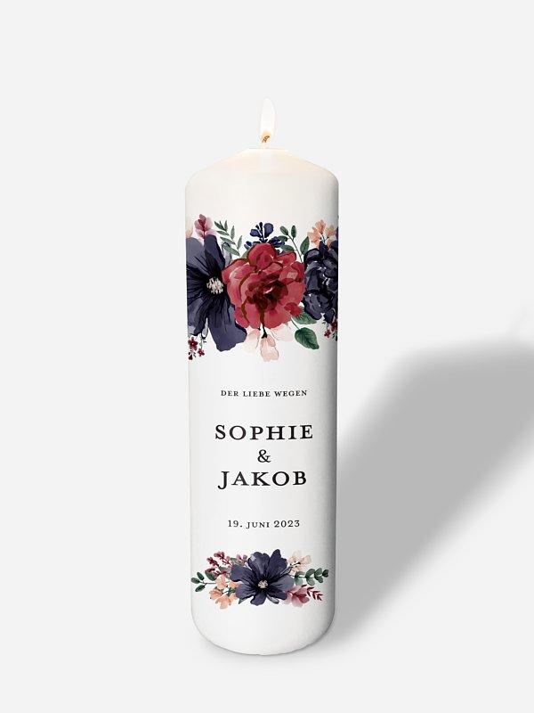 Hochzeitskerze Bouquet Frame