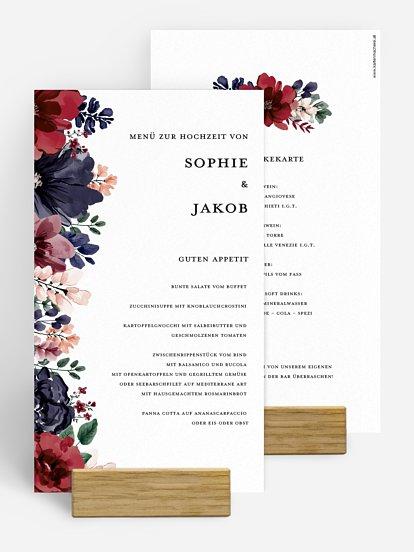 """Menükarte Hochzeit """"Bouquet Frame"""""""