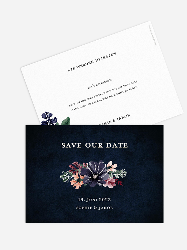 Save-the-Date Karte Bouquet Frame