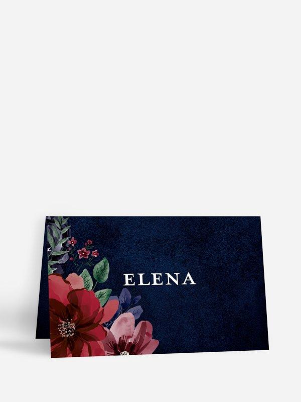 Tischkarte Hochzeit Bouquet Frame