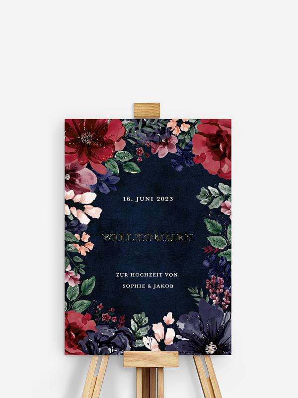 Willkommensschild Bouquet Frame