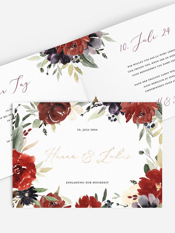Hochzeitseinladung Floralia