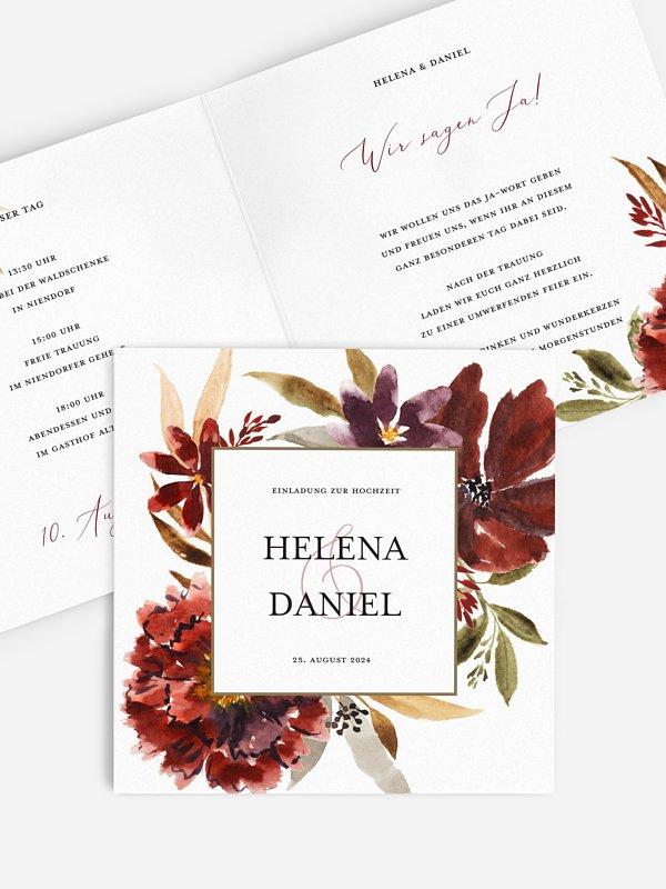 Hochzeitseinladung Dark Flowers
