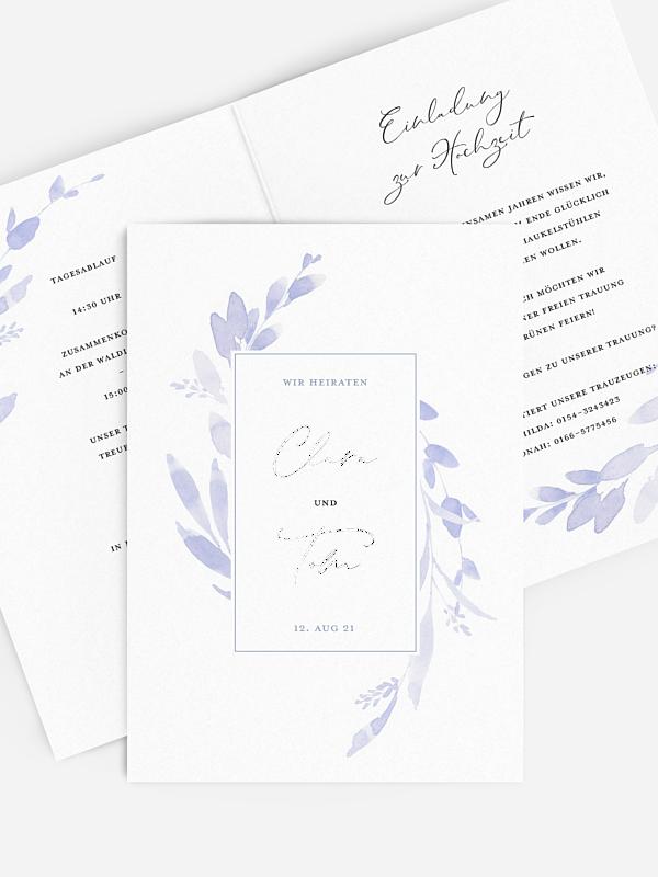Hochzeitseinladung Soft Blue