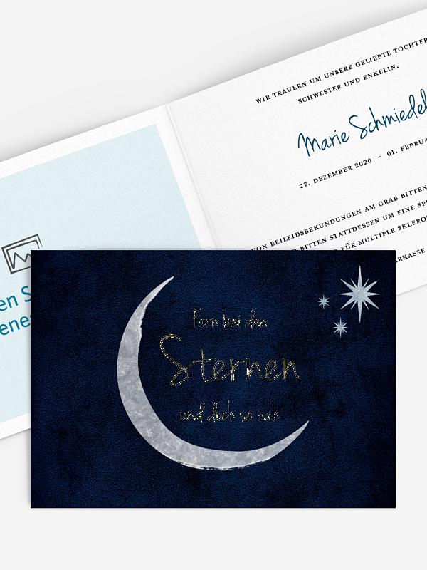 Trauerkarte To The Moon