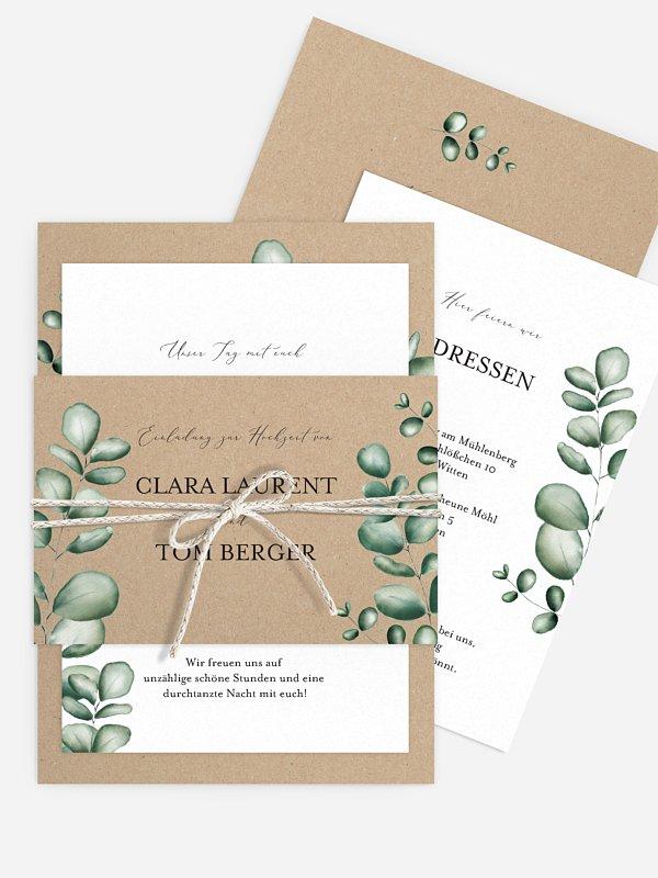 Hochzeitseinladung Forever Green