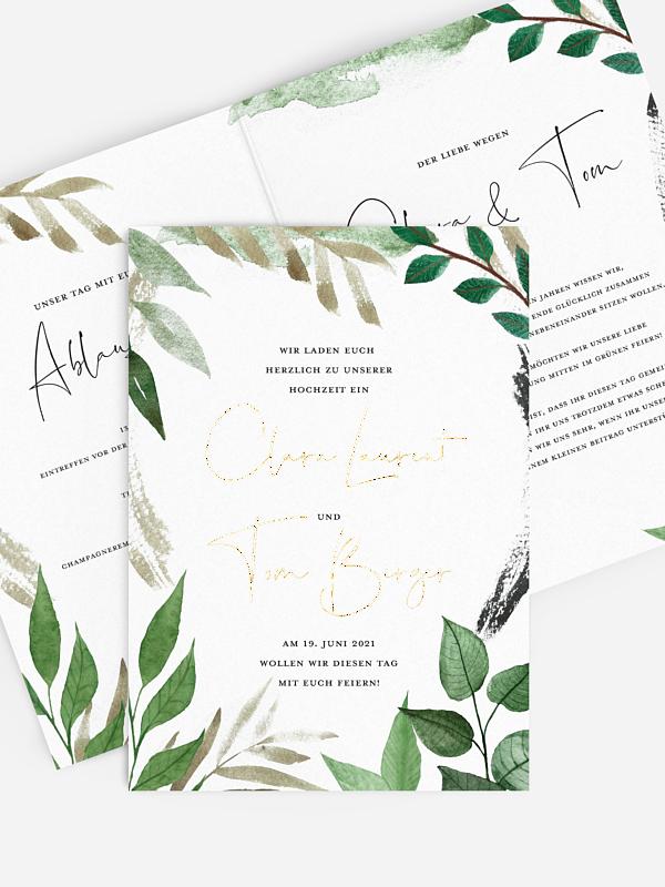 Hochzeitseinladung Wild Greenery