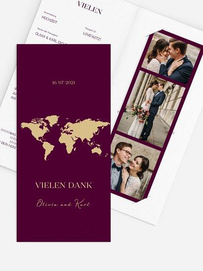 """Dankeskarte Hochzeit """"Reisepass"""""""