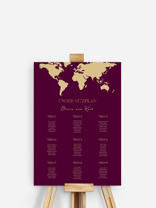 Sitzplan Plakat Reisepass