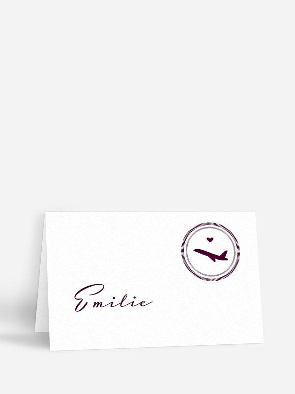 Tischkarte Hochzeit Reisepass
