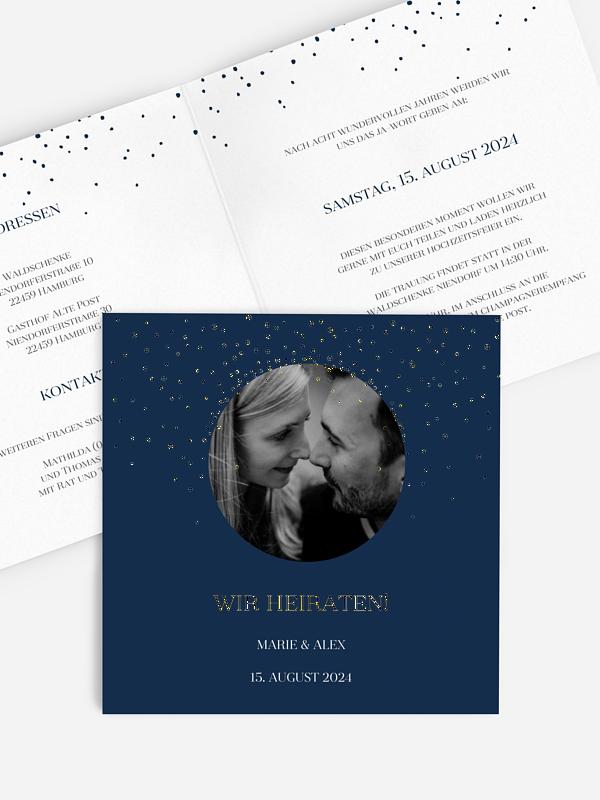Hochzeitseinladung Sparkling Air