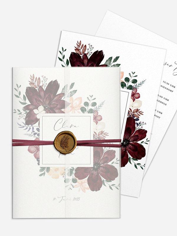Hochzeitseinladung Red Delight