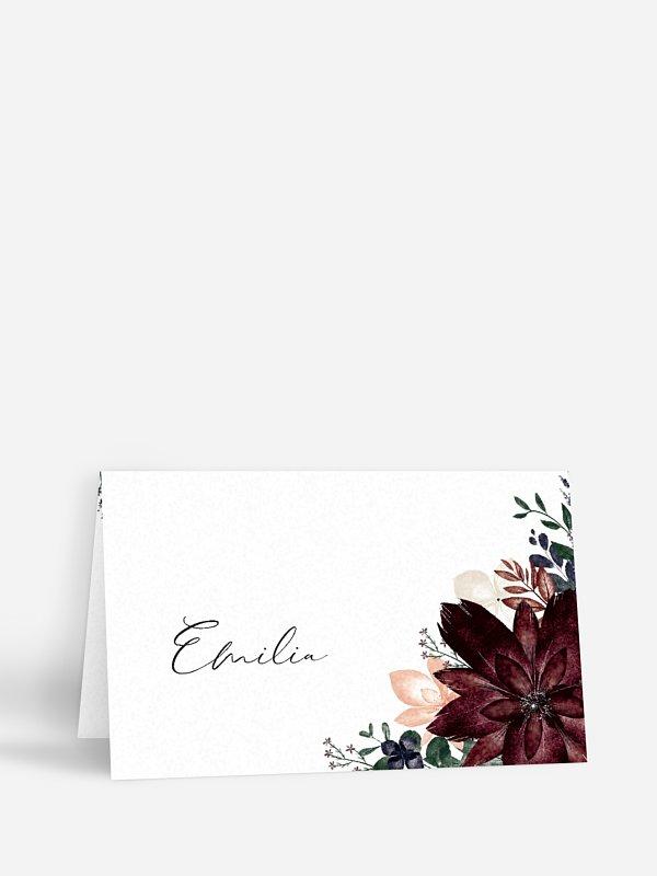 Tischkarte Hochzeit Red Delight