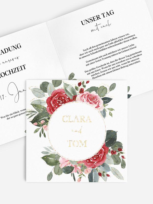 Hochzeitseinladung Ruby Rose
