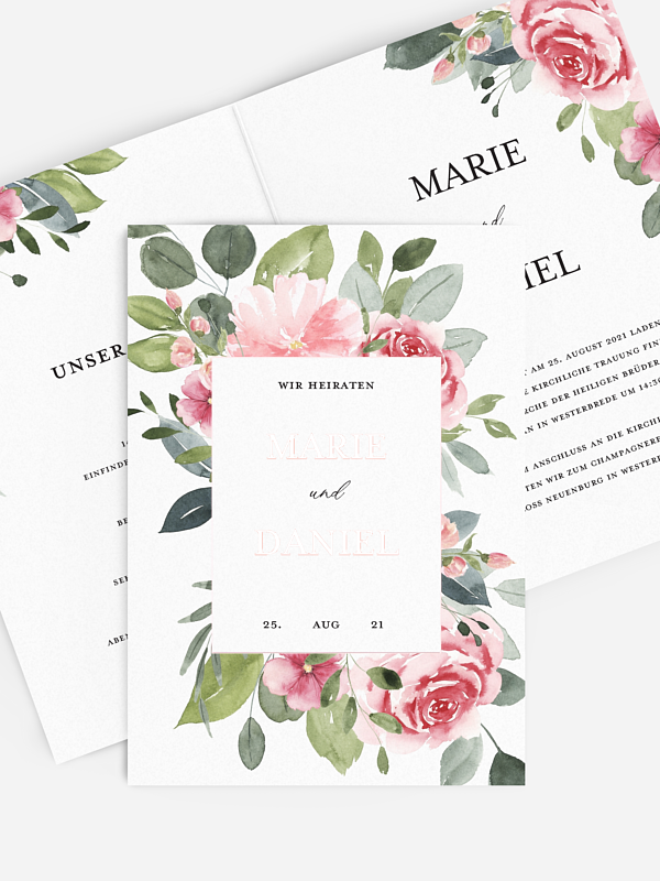 Hochzeitseinladung Rosie