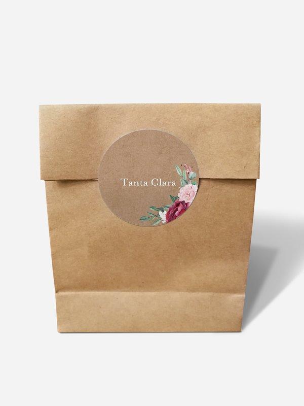 Papiertüte personalisiert Rose Bouquet