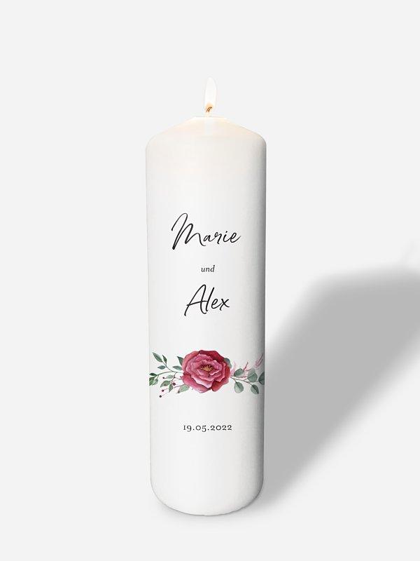 Hochzeitskerze Rose Bouquet