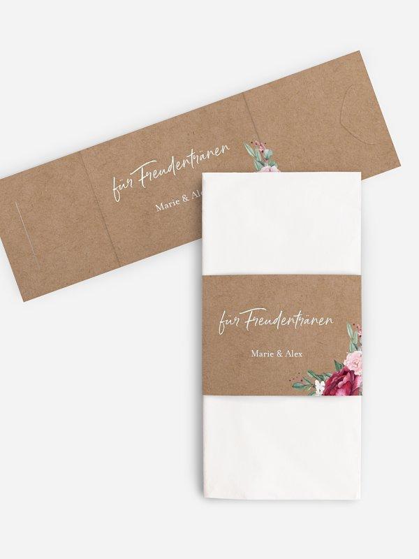 Freudentränen-Taschentücher Rose Bouquet