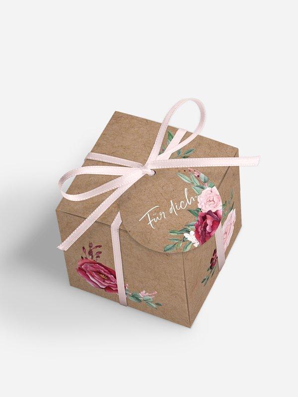 Gastgeschenkbox Rose Bouquet