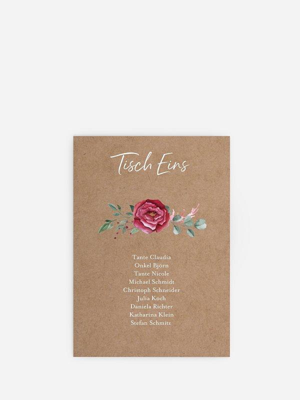 Sitzplan Kreativ Rose Bouquet