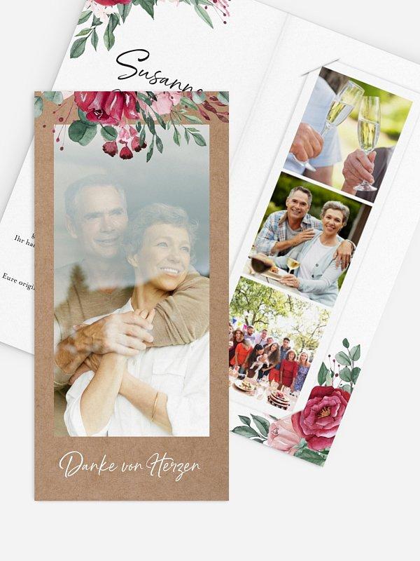 Danksagung zur Silberhochzeit Rose Bouquet