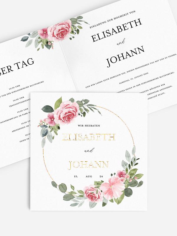 Hochzeitseinladung Rosalie