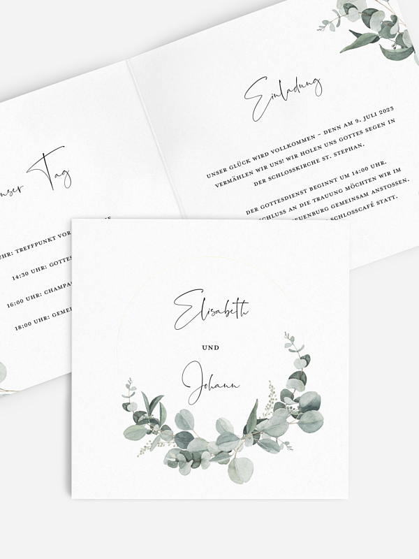 Hochzeitseinladung Eucalyptus Love