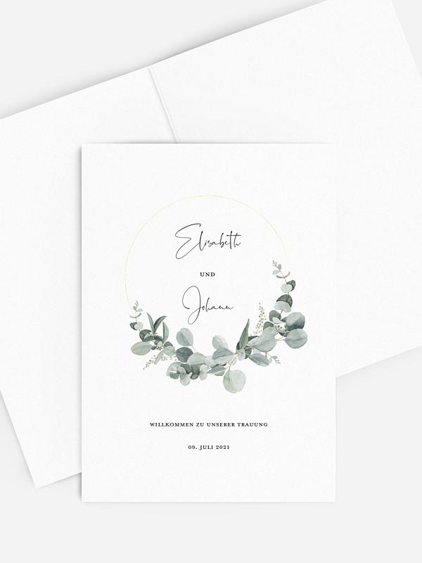 Kirchenheft Hochzeit Eucalyptus Love