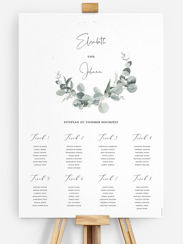 Sitzplan Plakat Eucalyptus Love
