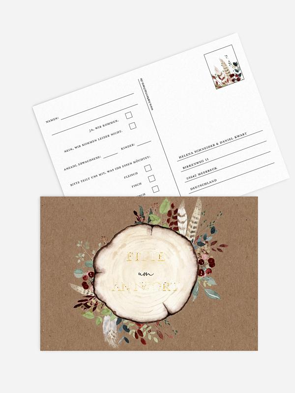 Antwortkarte Hochzeit Lovely Tree