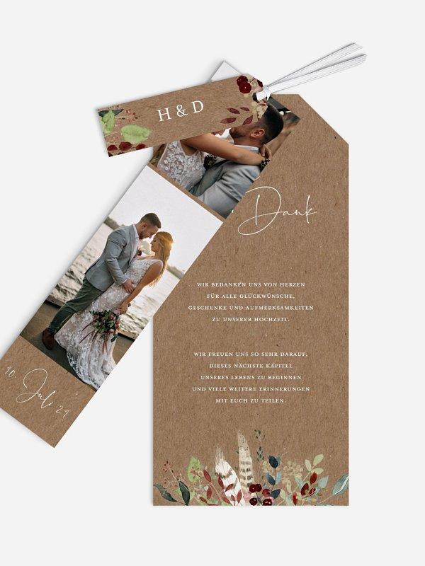 Dankeskarte Hochzeit Lovely Tree