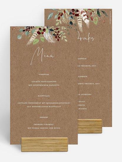 "Menükarte Hochzeit ""Lovely Tree"""