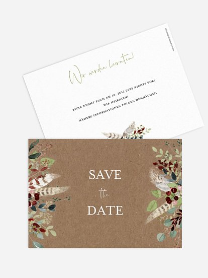 """Save-the-Date Karte """"Lovely Tree"""""""