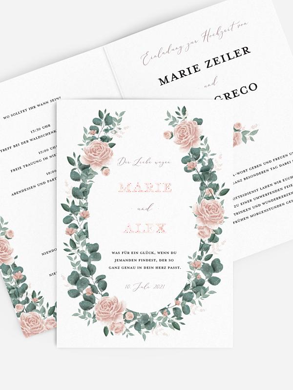Hochzeitseinladung Romantic Rose