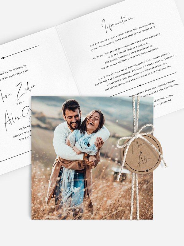 Hochzeitseinladung Glückspaar