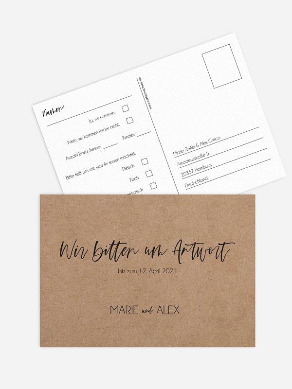 Antwortkarte Hochzeit Photo Strip