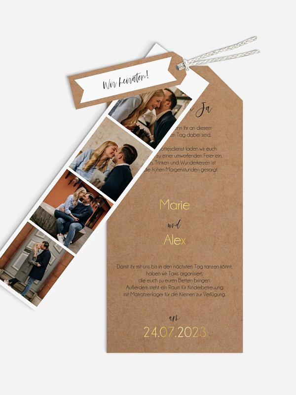Hochzeitseinladung Photo Strip