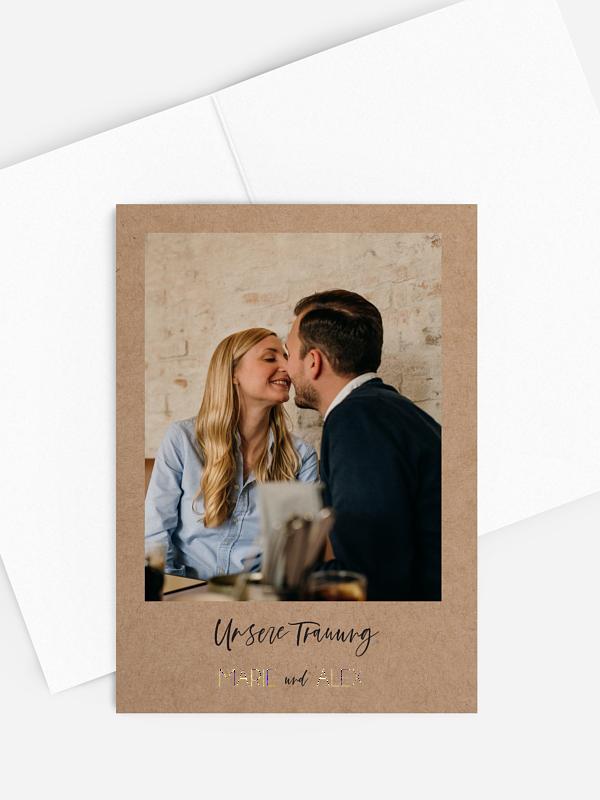 Kirchenheft Hochzeit Photo Strip