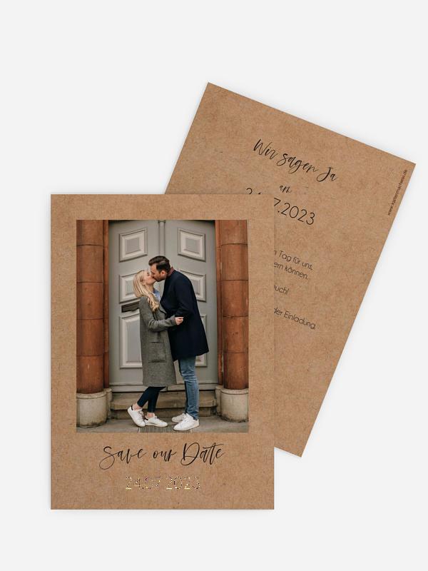 Save-the-Date Karte Photo Strip