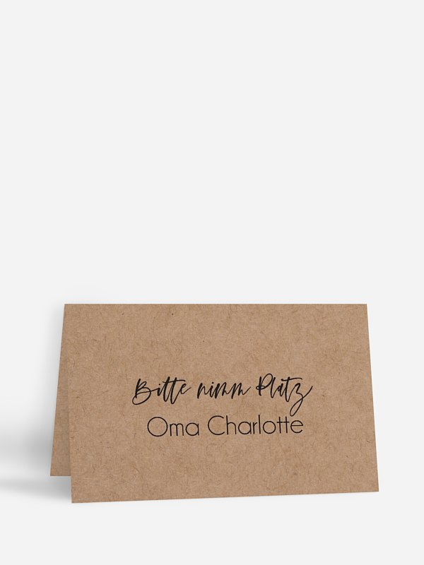 Tischkarte Hochzeit Photo Strip